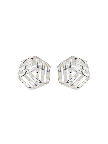 Mikey Silver 925 Triple Wire Triangle Stud