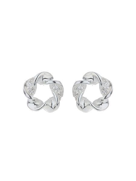 Mikey Silver 925 Twisted Wire Stud