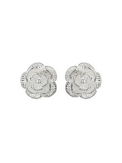Silver 925 Plain Flower Stud