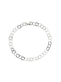 Silver 925 Circle Linked Tennis Bracelet