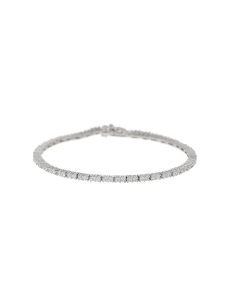 Mikey Silver 925 Cubic Sqaure Linked Bracelet