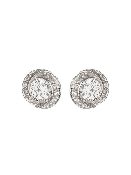 Mikey Centre Cubic Surround Stud Earring