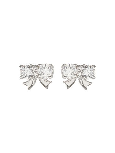 Mikey Bow Cubic Stud Earring