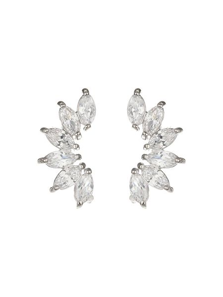 Mikey Half Crescent Cubic Stud Earring