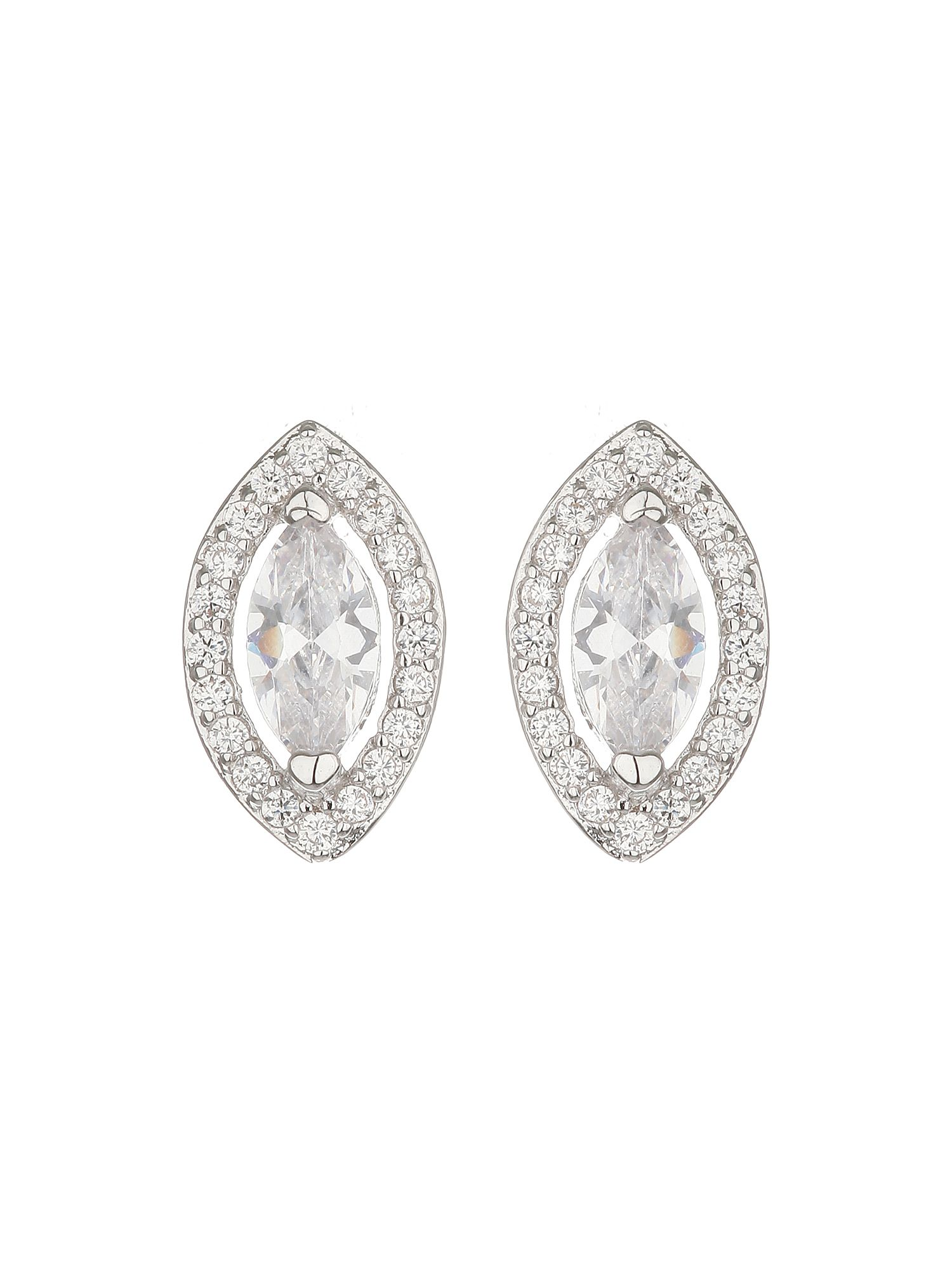 mikey filligree  eclipse cubic stud earring