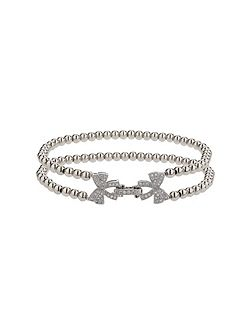 Twin butterfly inter lock bracelet