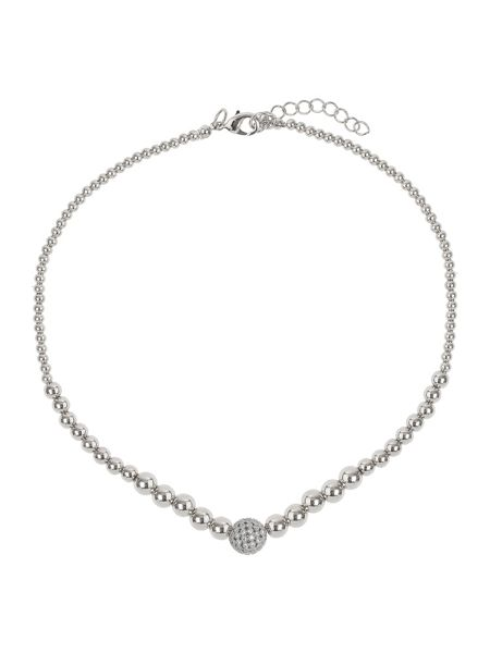 Mikey Fine cubic 12mm ball metal necklace