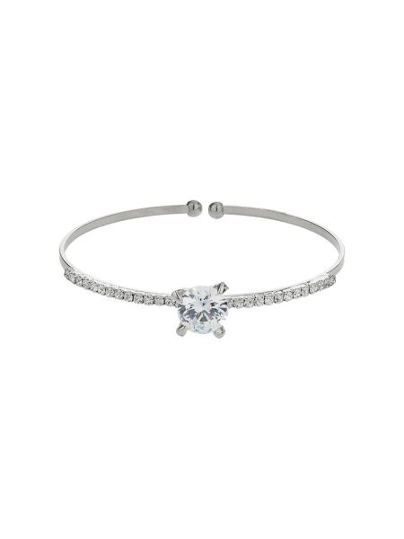 Mikey Centre crystal top cuff bracelet