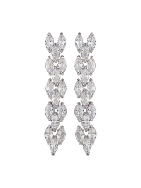 Mikey Twisted Rope Drop Crystal Earring