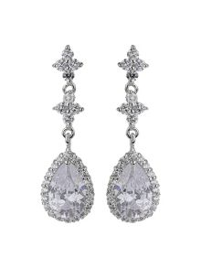 Mikey Oval cubic triple drop earring