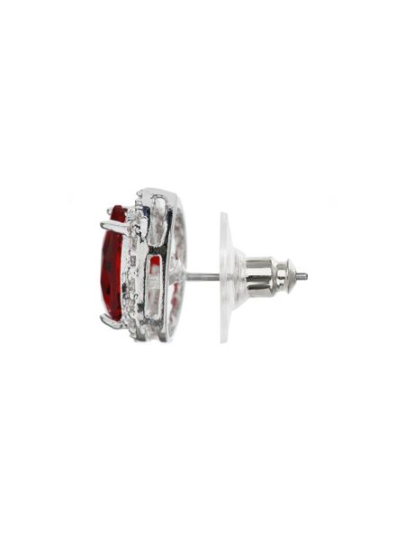 Mikey Oval Cubic Surround Stud