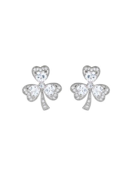 Mikey Shamrock design cubic stud earring