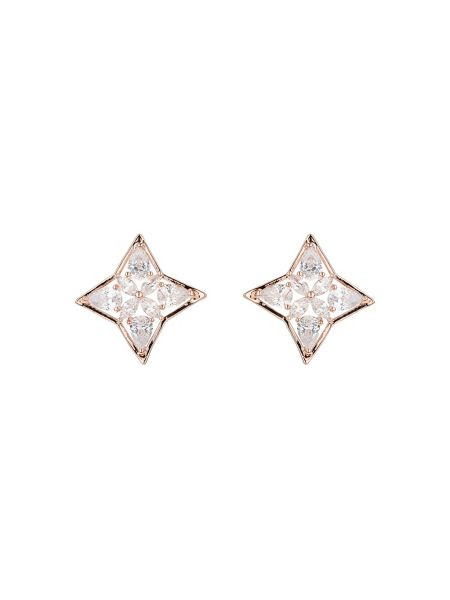 Mikey Curved square design cubic stud earring