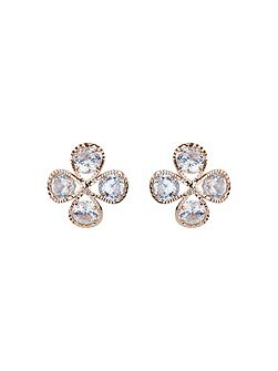 Dome shaped cubic stud earring