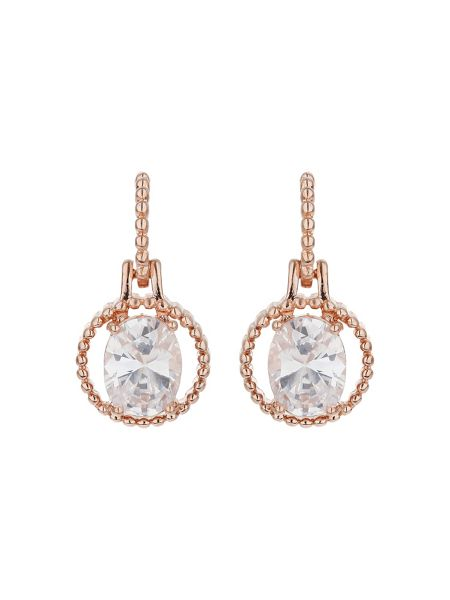 Mikey Hoop design cubic drop earring