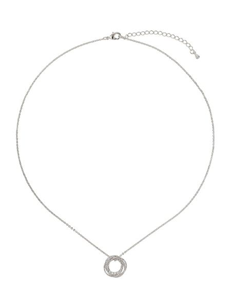 Mikey Spiral twisted circle cubic necklace
