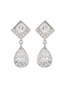 Mikey Diamond Square Oval Cubic Drop Set