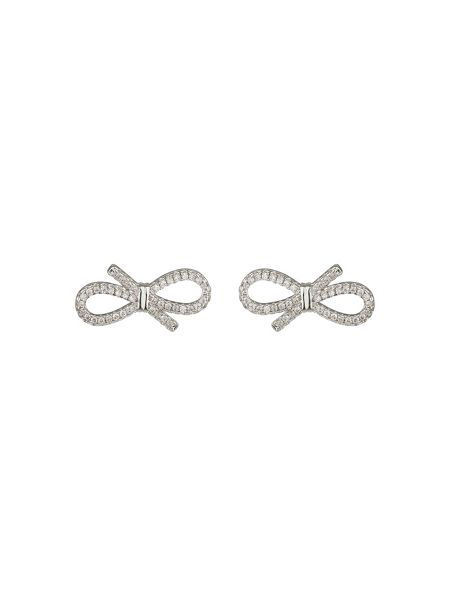 Mikey Tie Bow Cubic Stud Earring