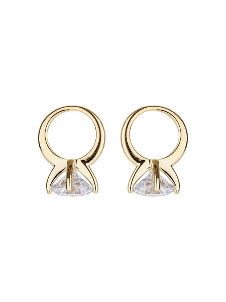Mikey Solitaire ring stud earring