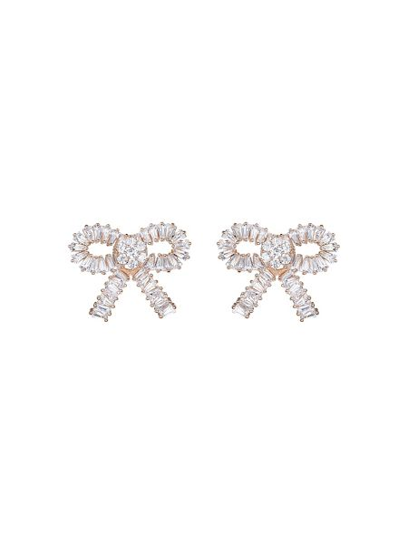 Mikey Large cubic bow stud earring