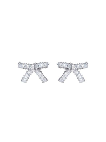 Mikey Medium cubic bow stud earring