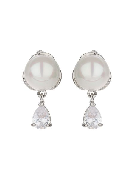 Mikey Pearl stud hanging cubic earring