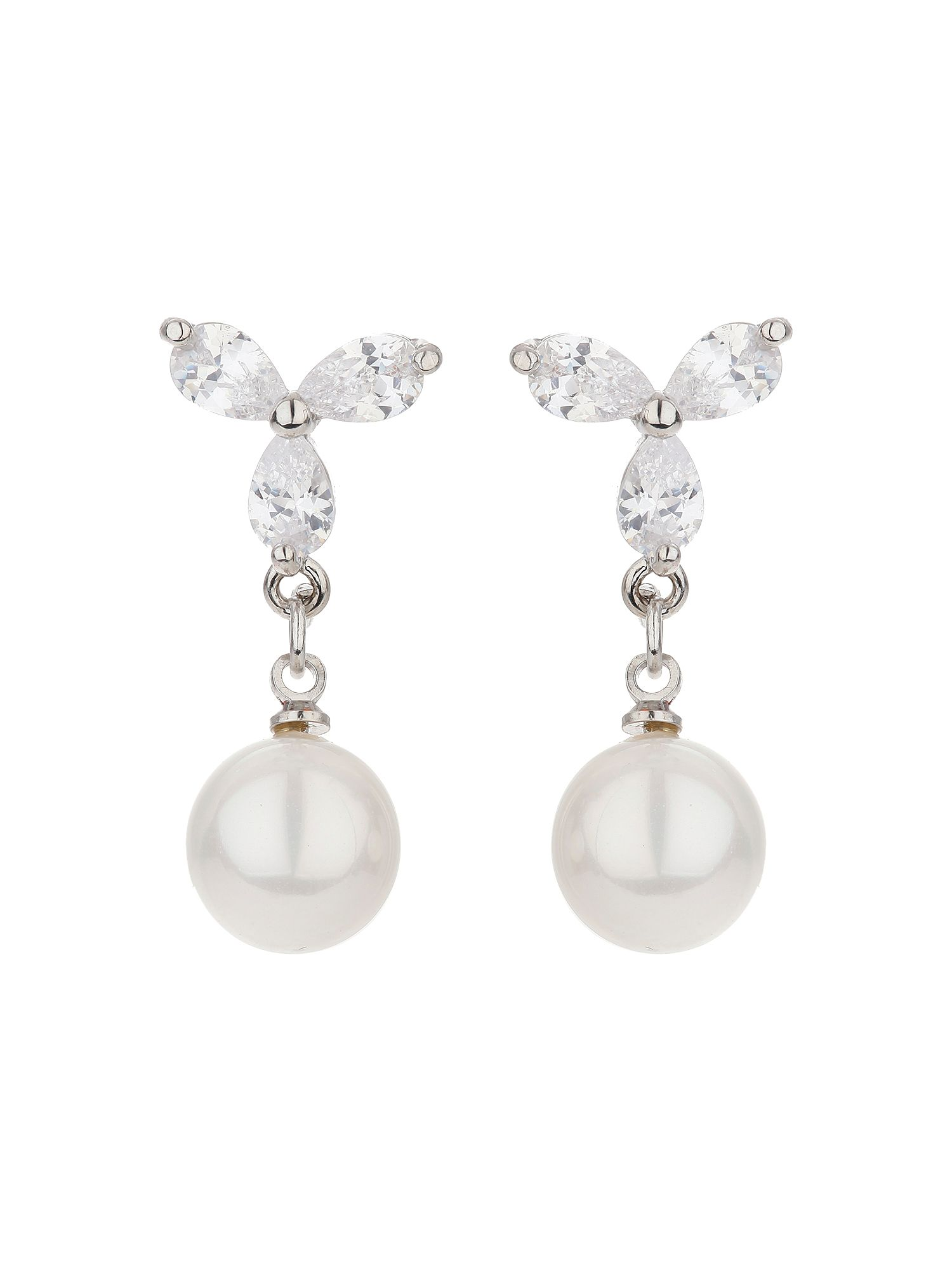 mikey x design stud pearl drop earring
