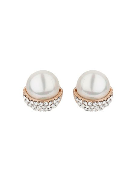 Mikey Acorn design pearl stud earring