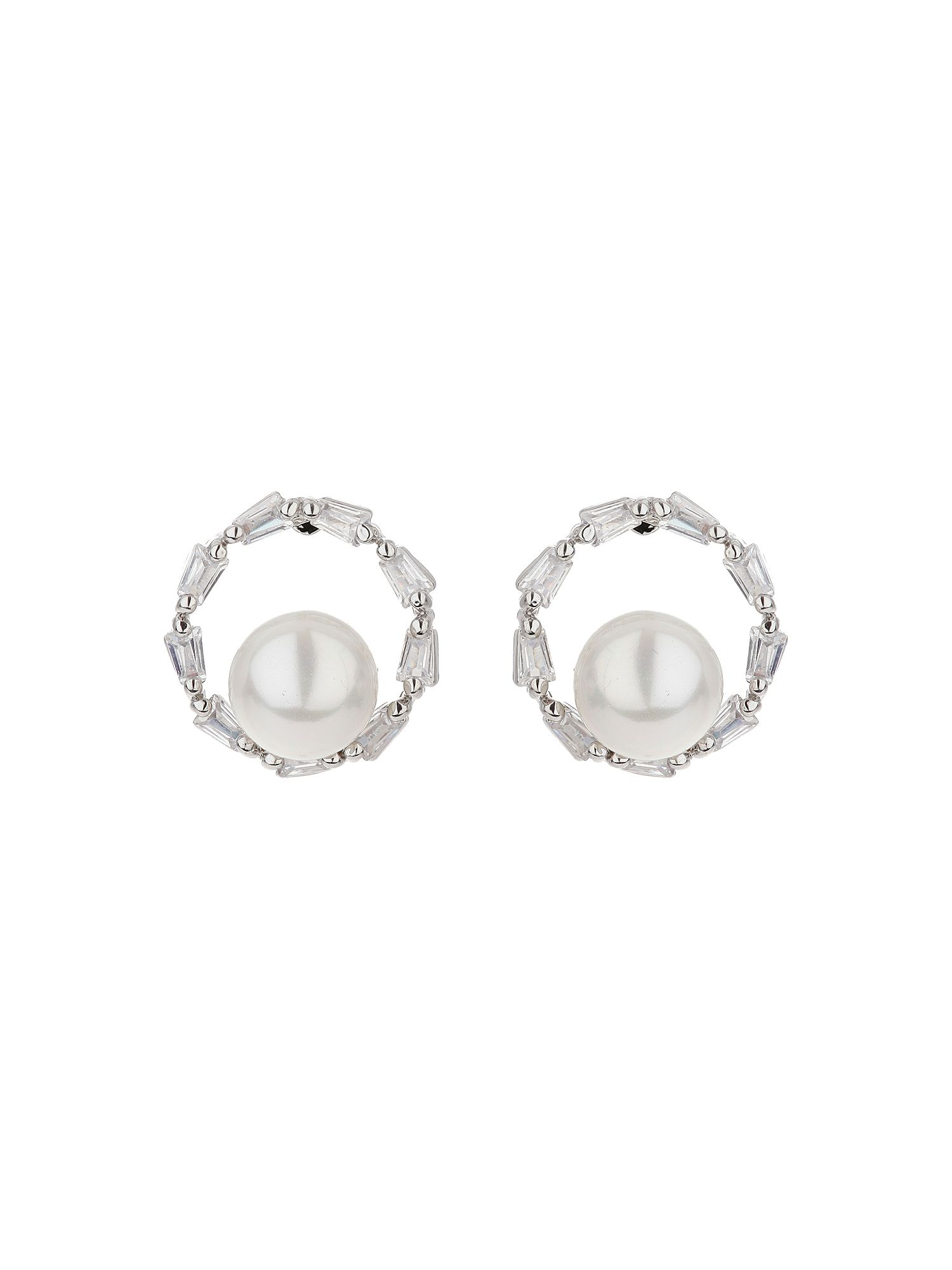mikey crown stud pearl centre earring