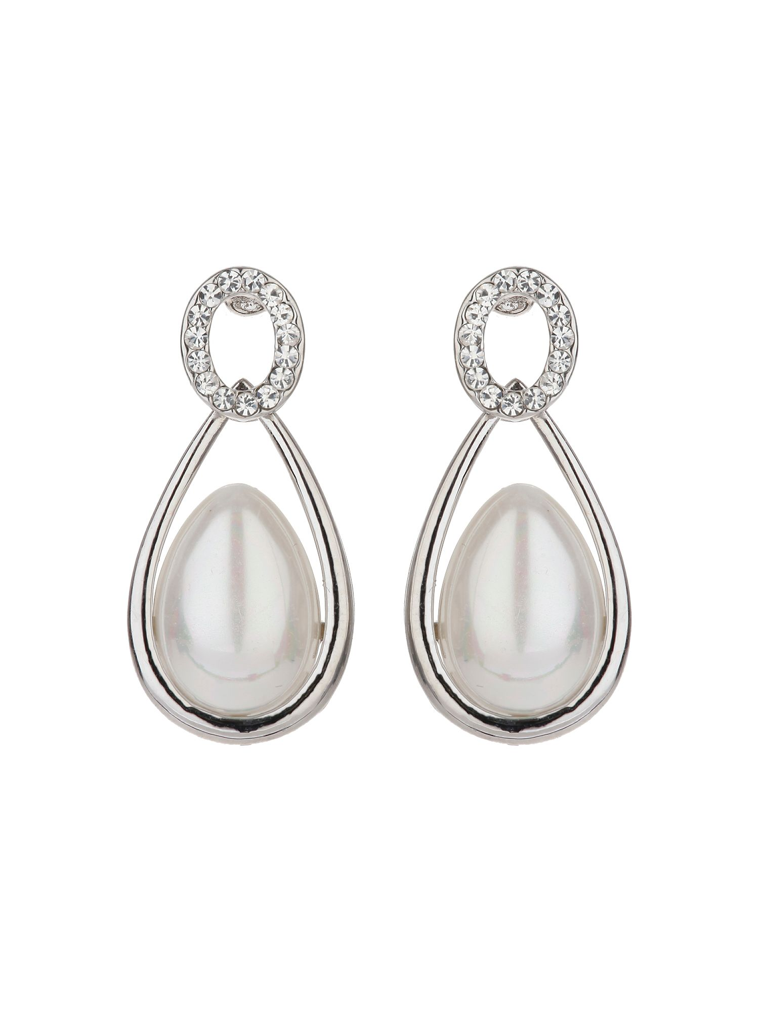 mikey oval stud eclipse pearl drop earring