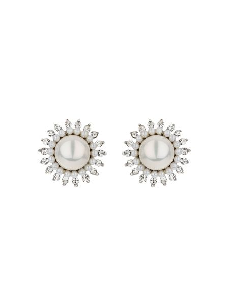 Mikey Sun design crystal pearl stud