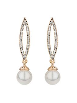 Eclipse designcrystal drop pearl earring