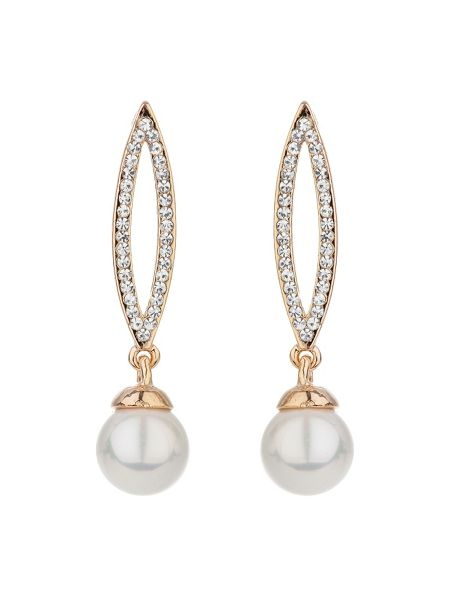 Mikey Eclipse designcrystal drop pearl earring