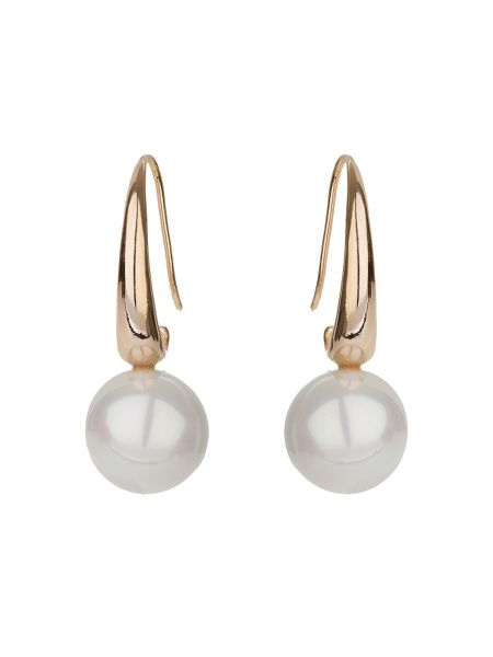 Mikey Plain hook pearl drop earring
