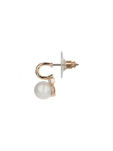 Mikey Abstract design pearl earring