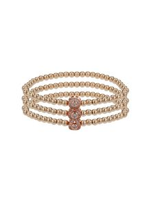 Mikey Triple oval linked crystal bracelet