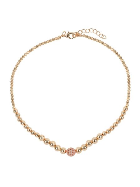 Mikey Fine cubic ball multi metal necklace