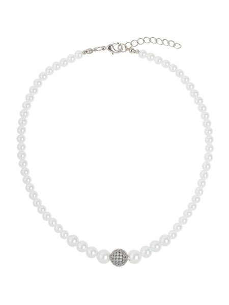 Mikey Fine cubic 12mm ball pearl necklace