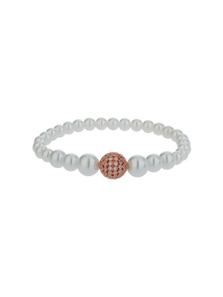 Mikey Fine cubic 12mm ball pearl bracelet