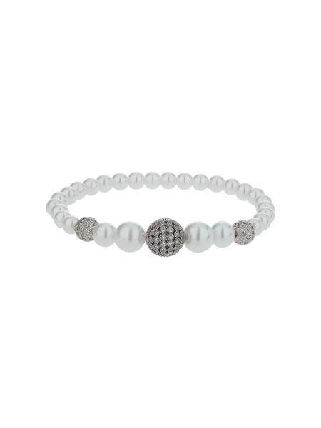 Mikey Multi shiny 12 cubic ball pearl bracelet