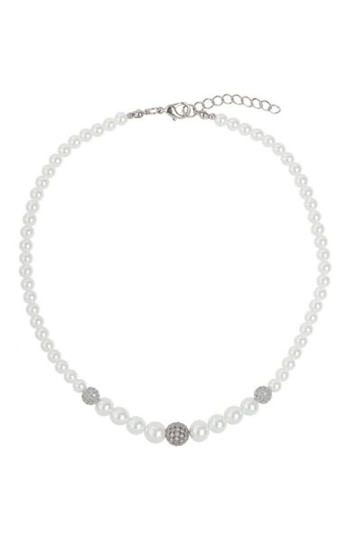 Mikey Multi shiny 10 cubic ball pearl necklace