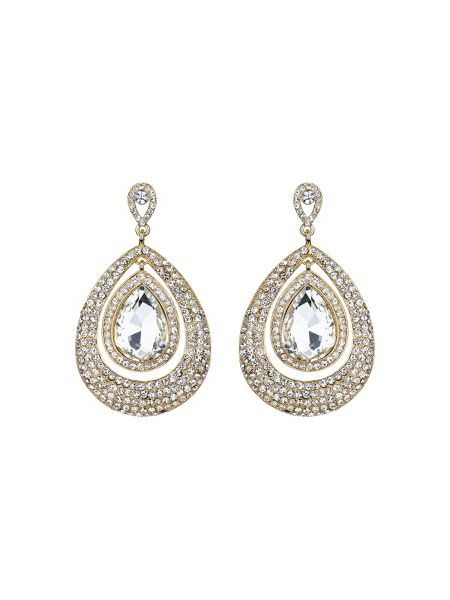 Mikey Eclipse crystal twin surround earring