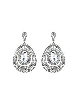 Eclipse crystal twin surround earring