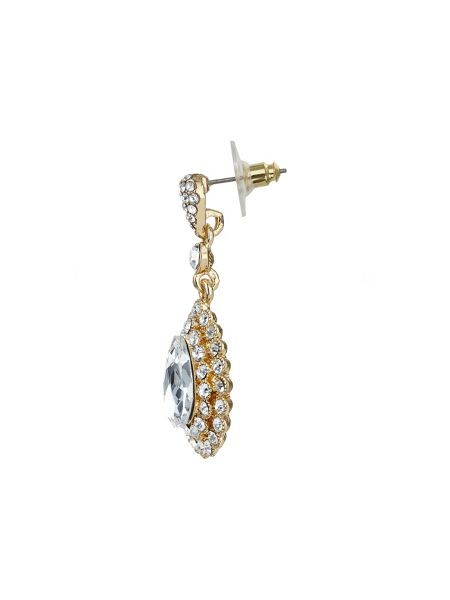 Mikey Oval crystal surround drop earring