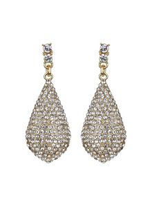 Mikey Eclipse embedded crystal drop earring