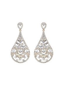 Mikey Filgree spread crystal oval drop earring