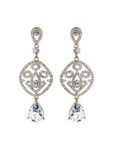 Mikey Filgree crystal diamond drop earring