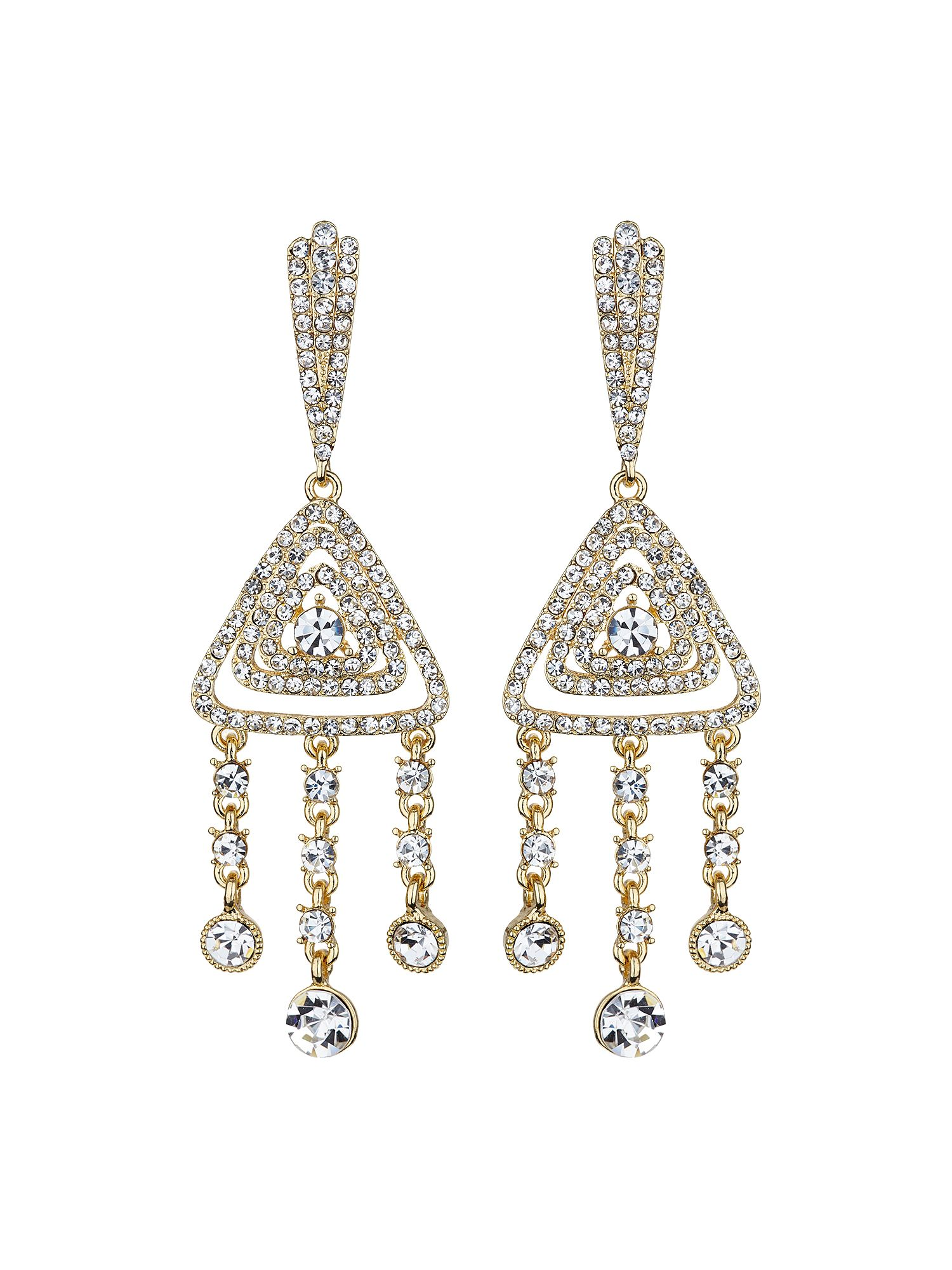 mikey diamond filigree crystal drop earring