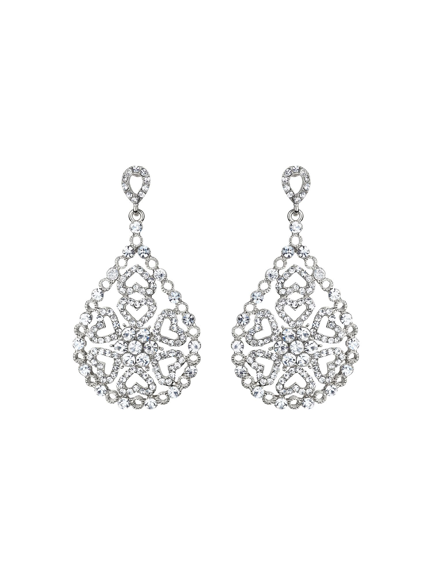 mikey oval design filigree spread drop earring