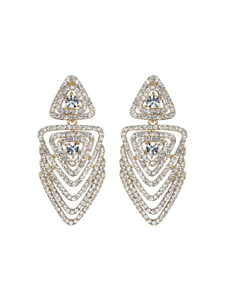 Mikey Multi layer crystal traingle earring